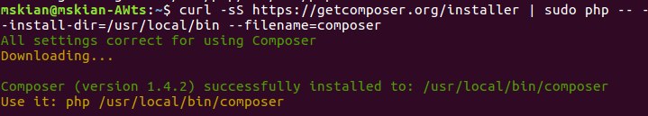 Install PHP Composer on Ubuntu